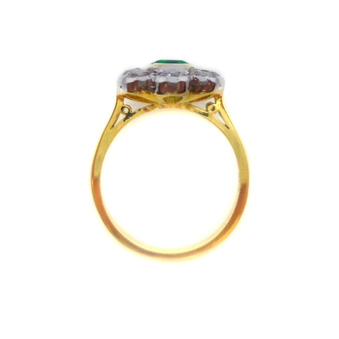 Top view of emerald ring